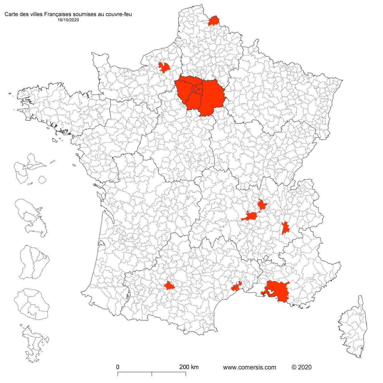 Les métropoles de France sous couvre feu