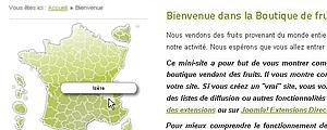 carte interactive et responsive pour site internet