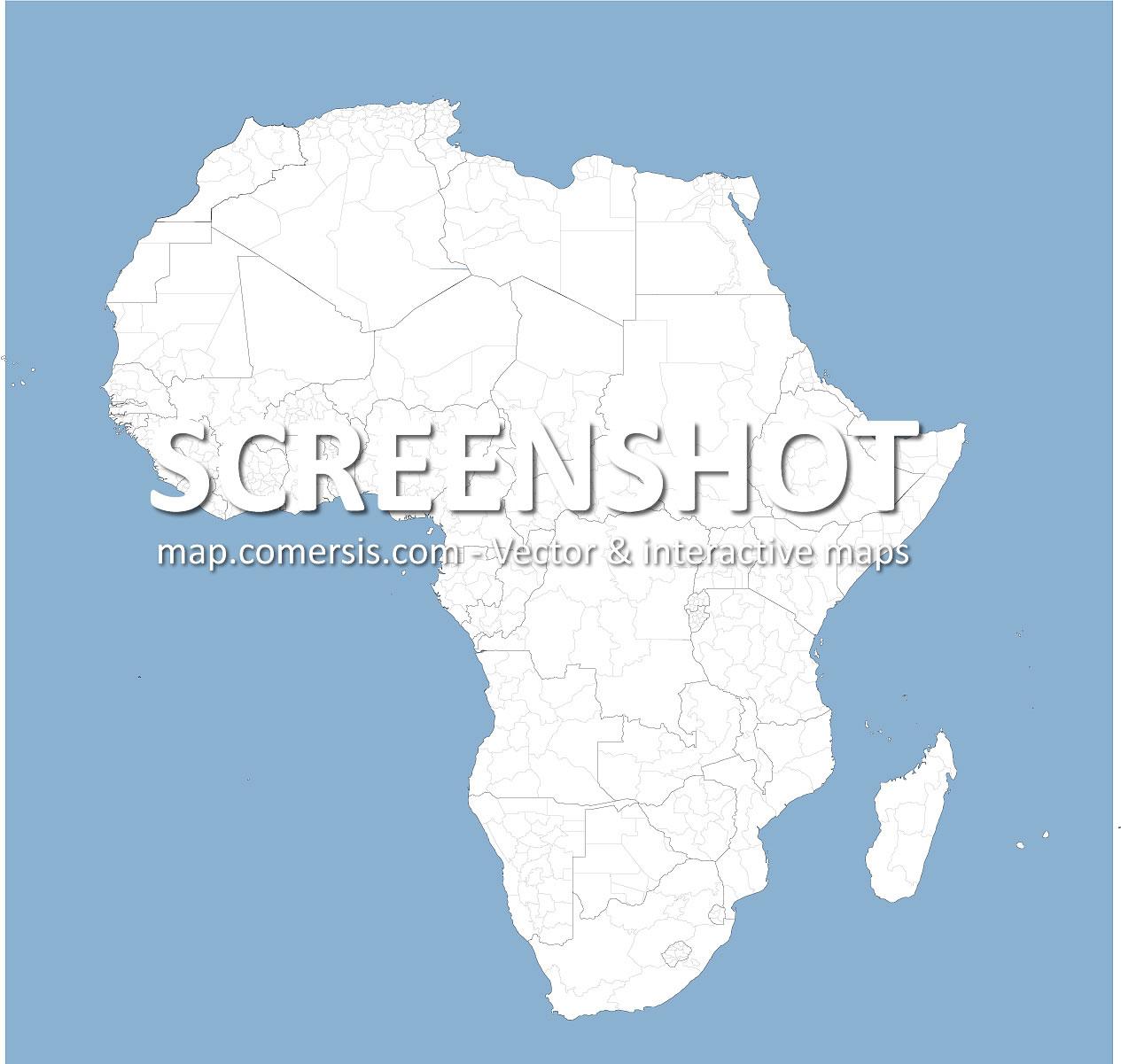frontières et subdivisions des pays d'Afrique