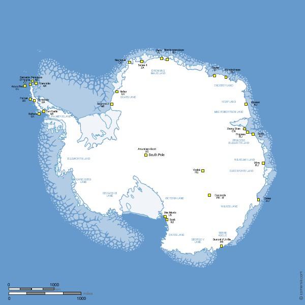 stations de l'Antarctique