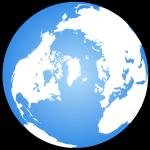 Arctique centré sur le Globe terrestre