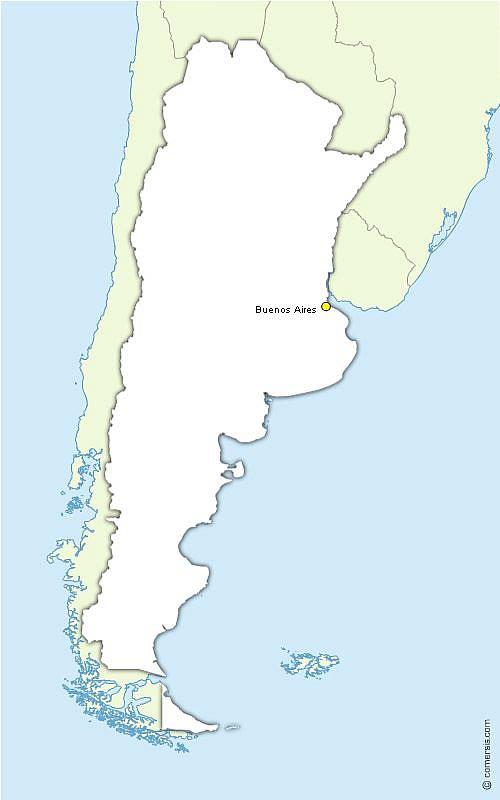 Fond de carte vector de l'Argentine gratuit