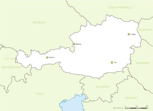 des frontières de l'Autriche vectorielle gratuite