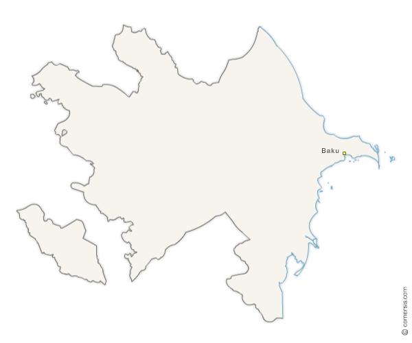 editable de l'Azerbaïjan gratuite