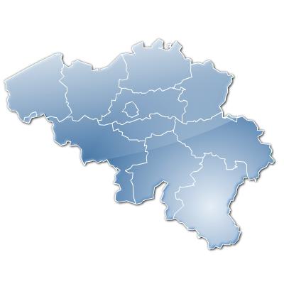 stylisée de Belgique et provinces