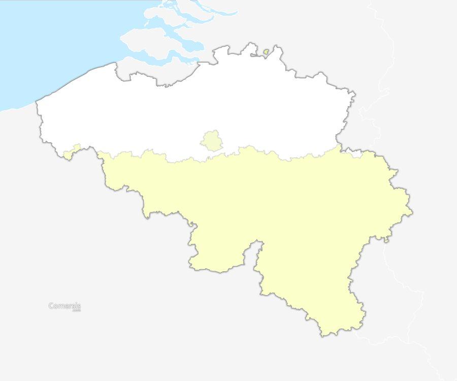 régions de Belgique vectorielle gratuite