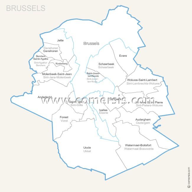 communes de Bruxelles