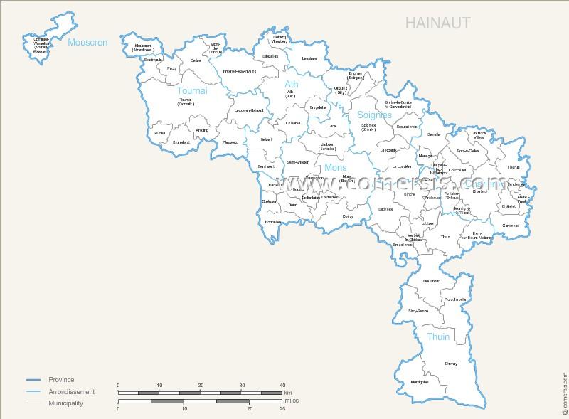 communes du Hainaut