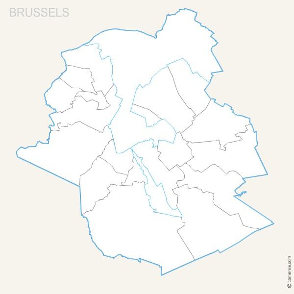 Province Belge de Bruxelles pour Word et Excel gratuite
