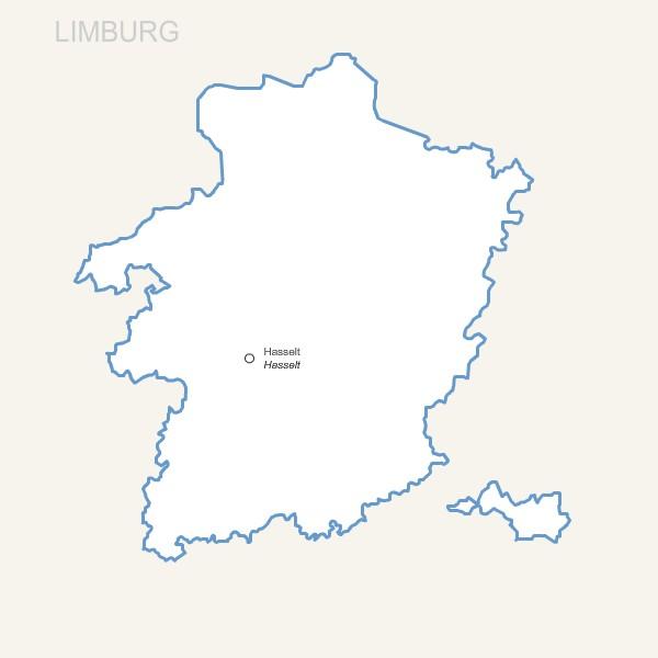 Province Belge du Limbourg pour Word et Excel gratuite