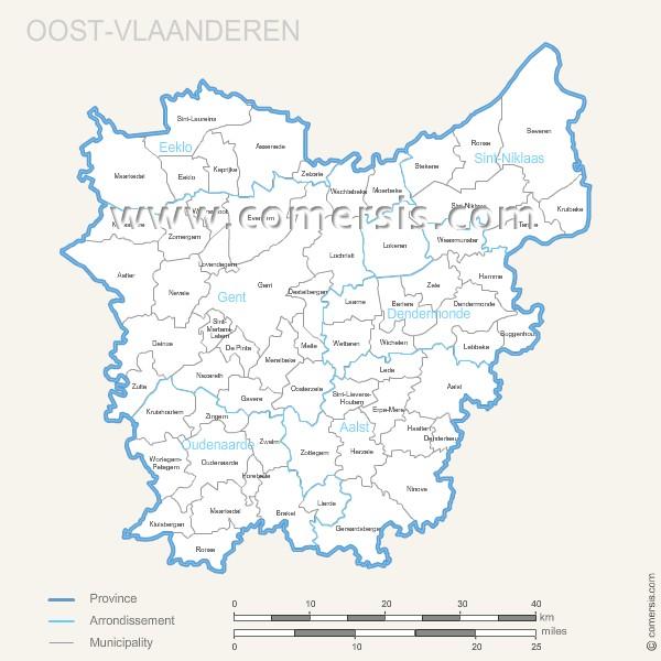 communes de Flandre Orientale