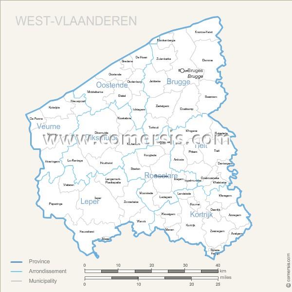 communes de Flandre Occidentale.