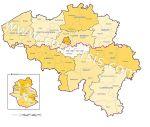 régions, provinces et arrondissements de Belgique