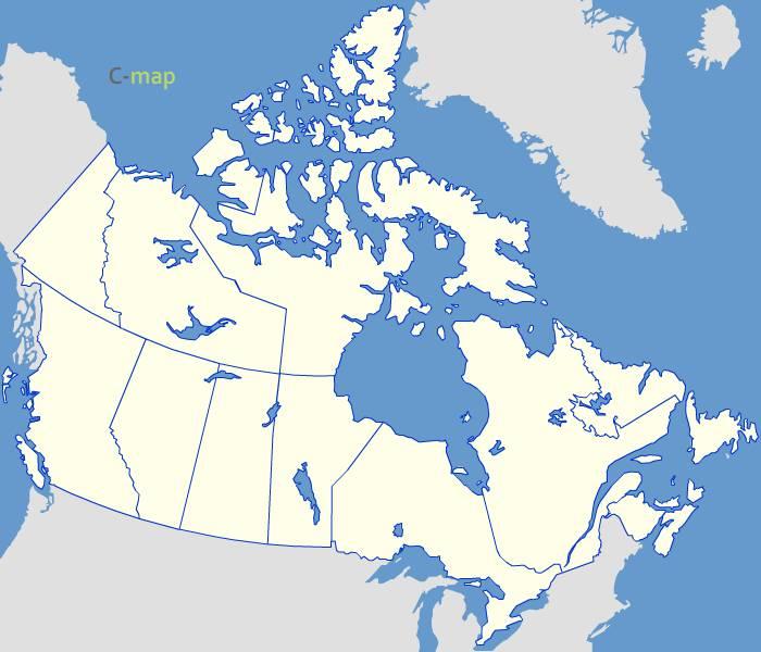 Fond de carte du Canada vectoriel