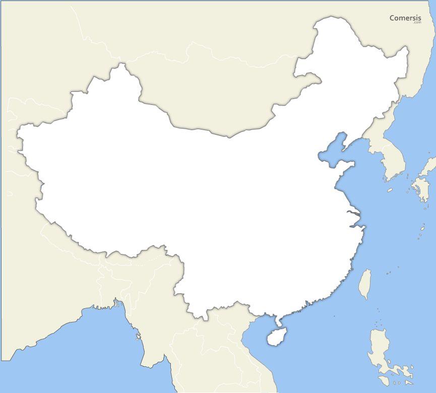 Fond de carte vectoriel de Chine gratuit