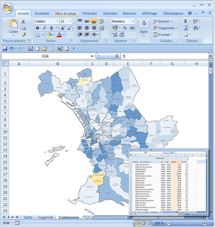 Plan des quartiers de Marseille Excel macro