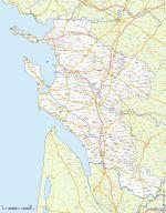 communes et routes de la Charente-Maritime - 17