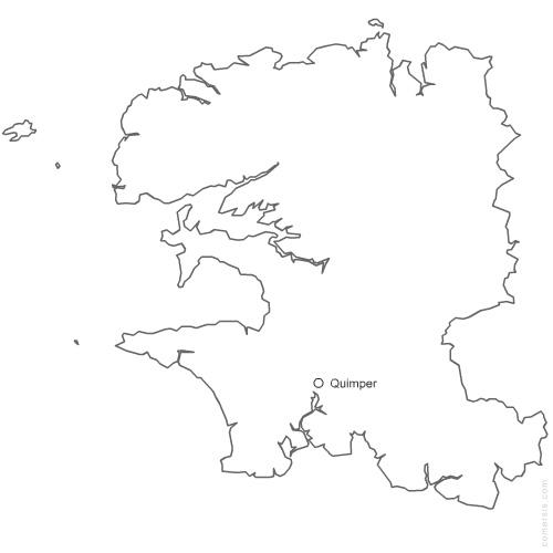 Carte département du Finistère 29