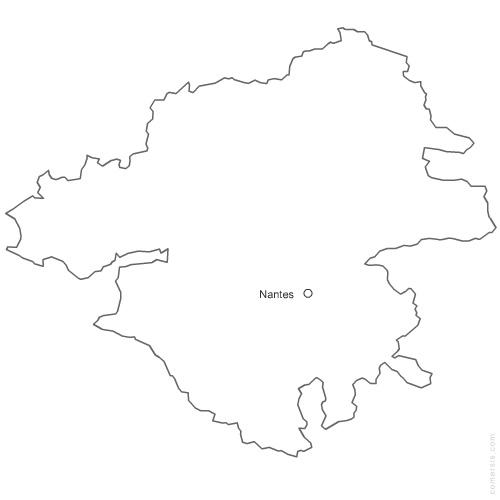 Carte d partement de la loire atlantique 44 - Chambre des notaires de loire atlantique ...