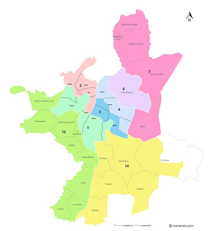 circonscriptions de Lyon