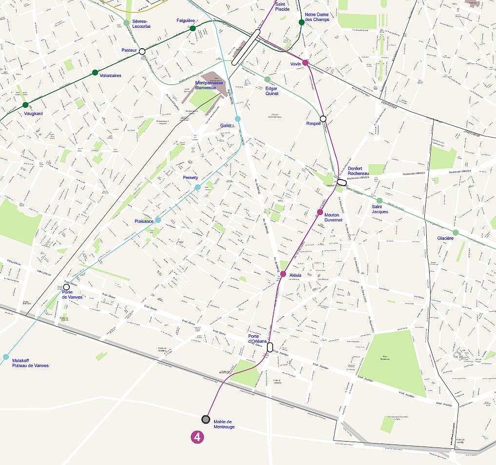 Plan 14 arrondissement de Paris