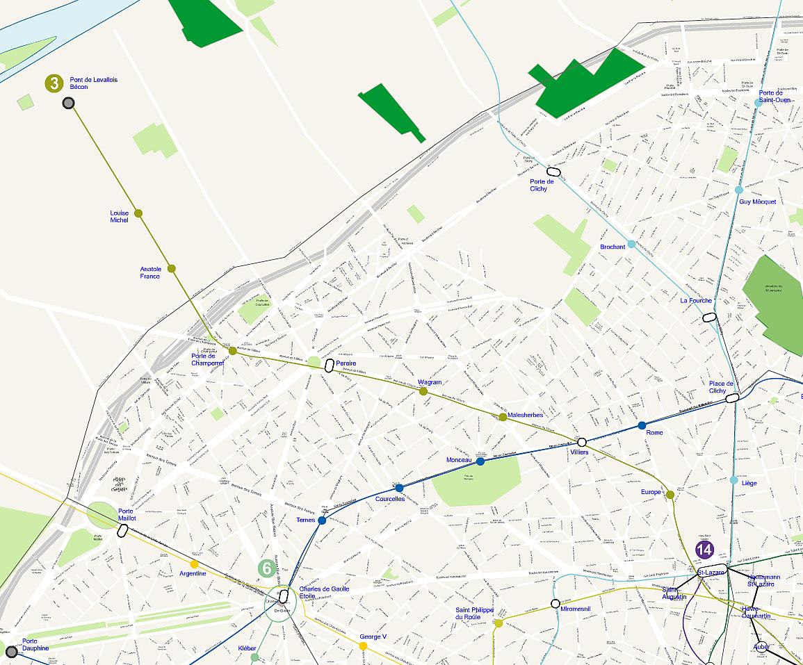 Plan 17 arrondissement de Paris