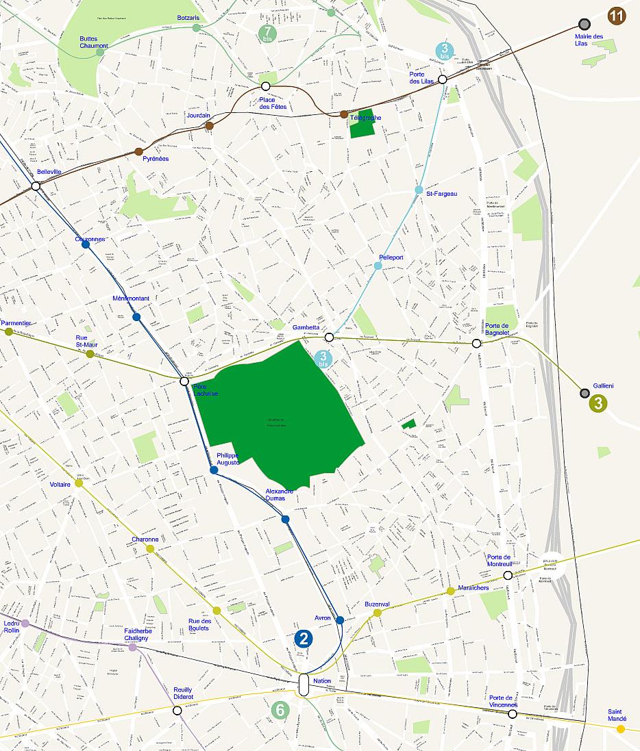 Plan 20 arrondissement de Paris