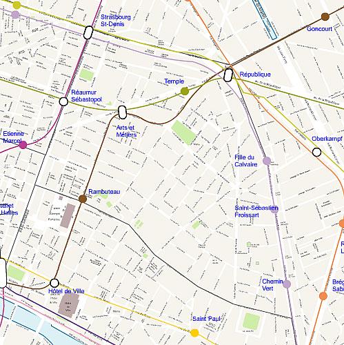 Plan 3 arrondissement de Paris
