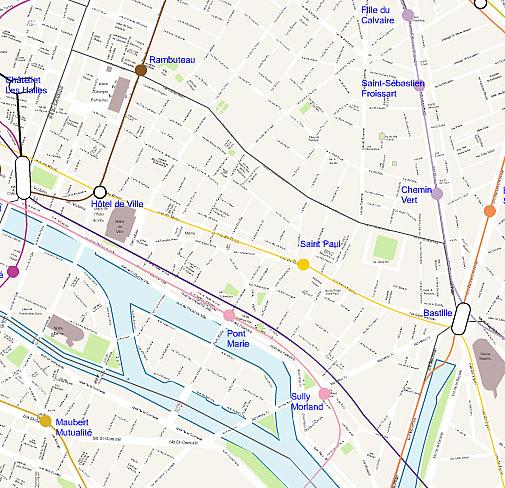 Carte de paris for Agence immobiliere 3eme arrondissement paris