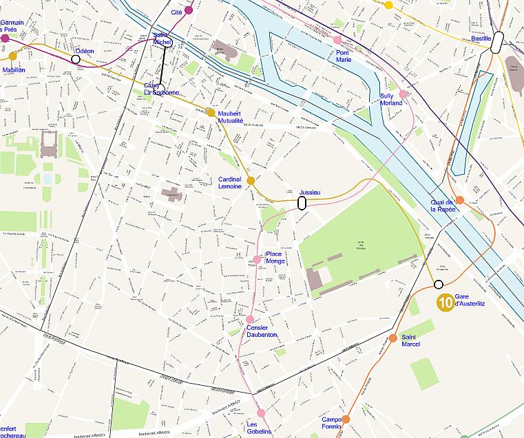 Plan 5 arrondissement de Paris