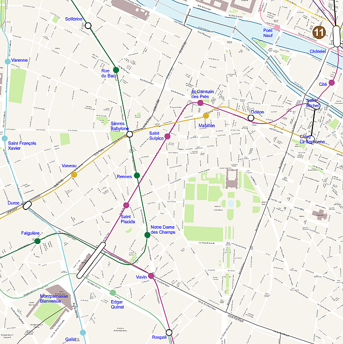 Carte plan du 6 eme arrondissement de paris for Agence immobiliere 6eme arrondissement paris
