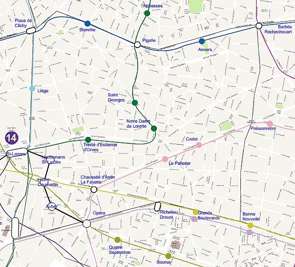 Plan 9 arrondissement de Paris