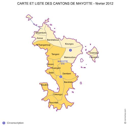 des cantons de  Mayotte 2012 pour Word et Excel.