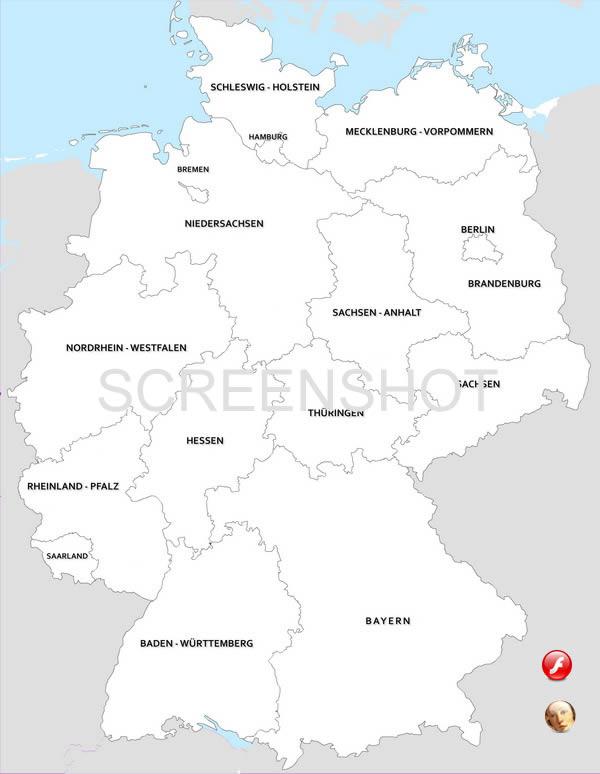 Carte Allemagne Avec Lander.Cartes Allemagne