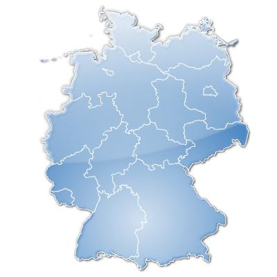 d' Allemagne stylisée avec regions