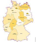Excel et Word modifiable des États d'Allemagne