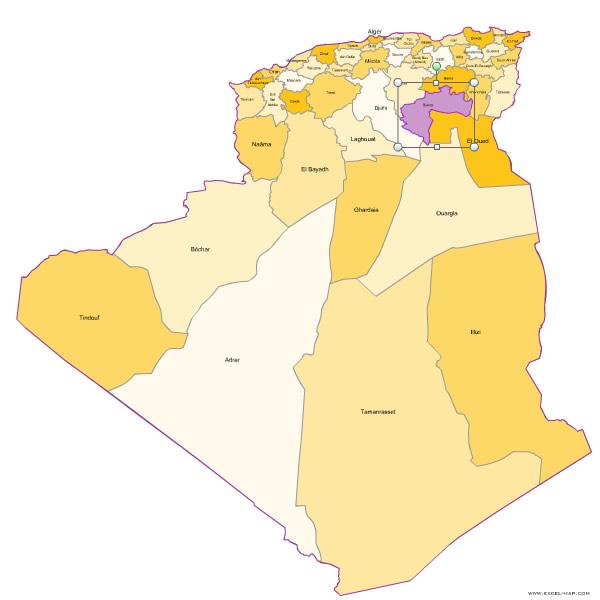 Carte Algerie Wilaya.Des Wilayas D Algerie Pour Word Et Excel