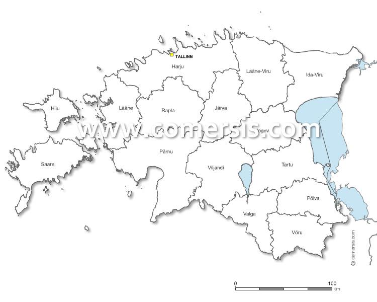 Comtés d'Estonie