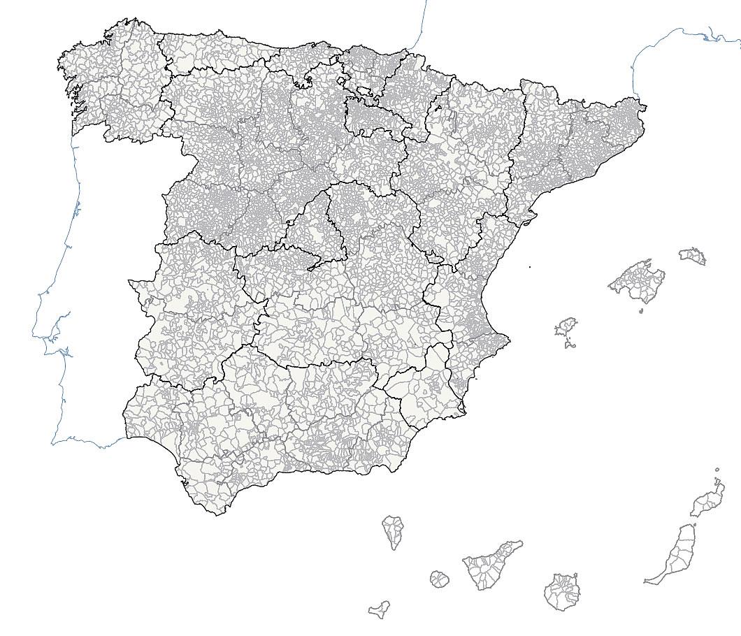 communes et provinces d'Espagne