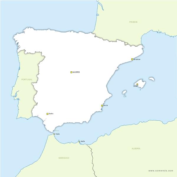 Fond de carte vectoriel de l'Espagne gratuit