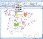 provinces d'Espagne pour Word, Excel et Powerpoint