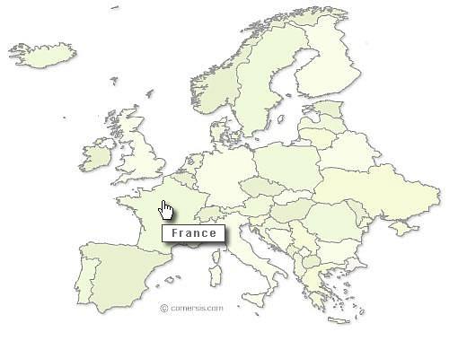 cliquable d'Europe prêt à l'emploi