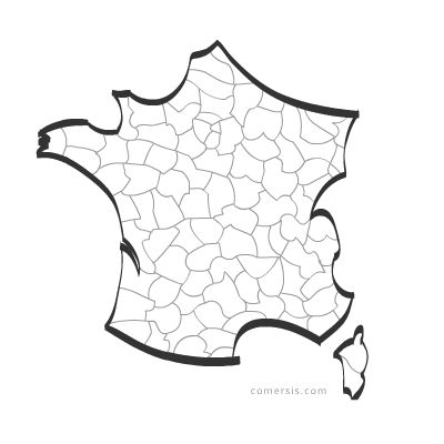 Stylized vector map of France