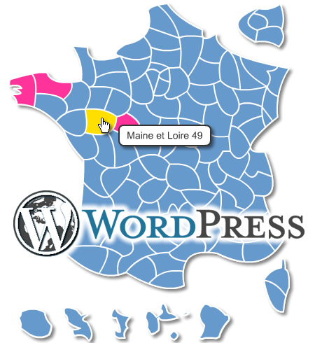 carte de france cliquable wordpress