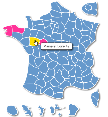 carte de france interactive personnalisable