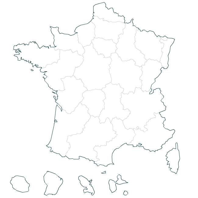 carte de france illustrator