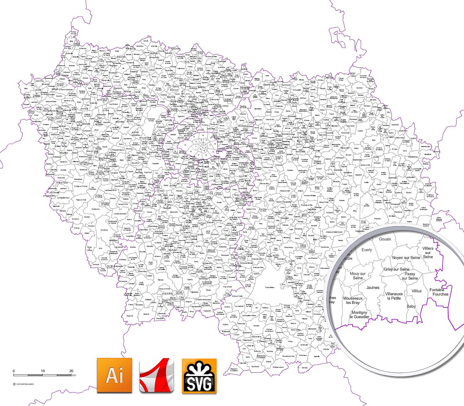 carte communes ile de france Index of /c images/FR