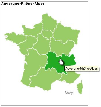 Nouvelles régions de France - responsive