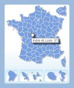 des départements de France cliquable pour site Internet