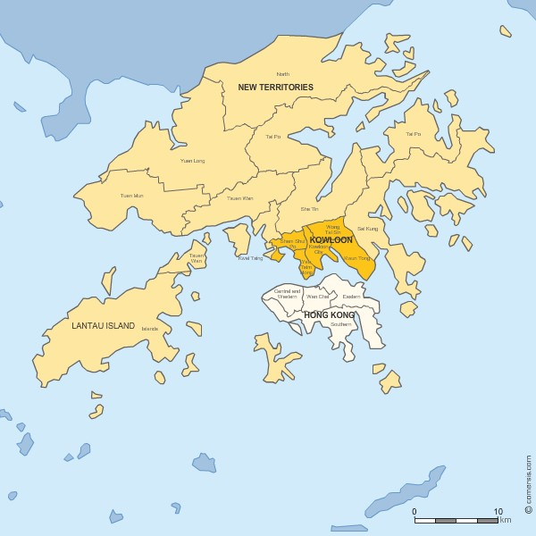 Hong Kong Island Districts